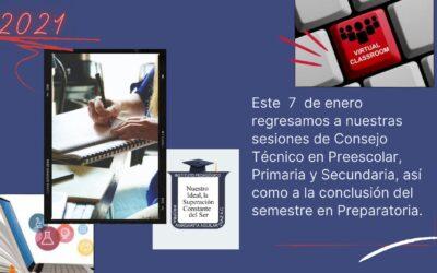 Reuniones de Consejo Técnico de las Secciones Preescolar, Primaria y Preparatoria