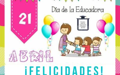 ¡Felicidades a todas las educadoras!