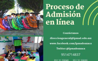 Inicia nuestro proceso de admisión en línea